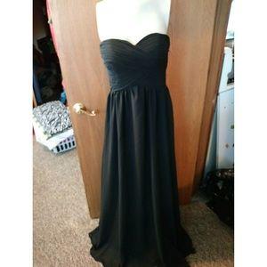 NWOT Black Strapless Full Length Evening Gown